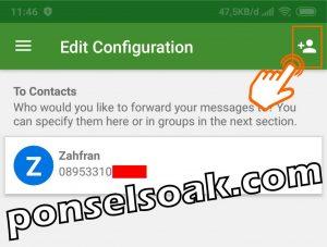 H2 2 Cara Menambah Kontak Penerima SMS Dari HP Yang Di Sadap 4