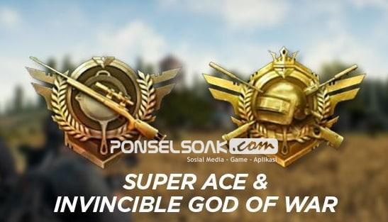 Jenis jenis RankingPangkat dalam Game PUBG Mobile Super Ace Ace Invincible God of War Conqueror