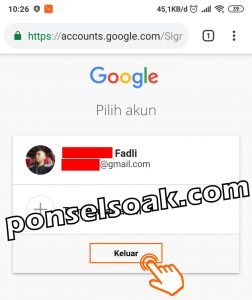 Cara Keluar Dari Akun Gmail 5
