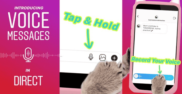 Cara Mengirim Voice Note di Instagram