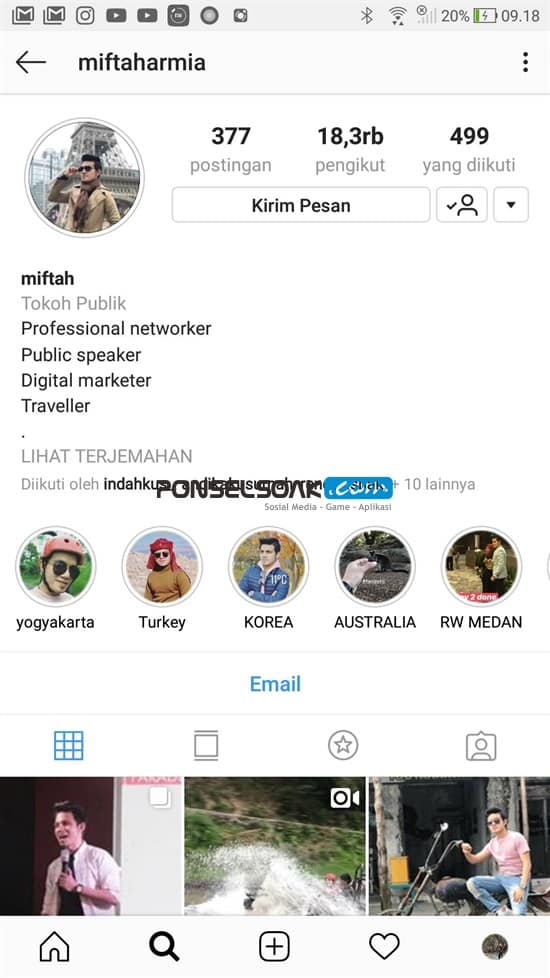 Contoh Bio Instagram Akun Pribadi