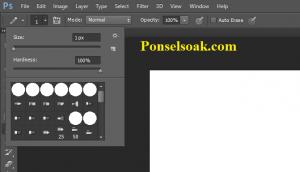 Membuat Garis Di Photoshop Dengan Pencil Tool 2