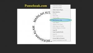 Membuat Tulisan Melingkar Dengan Bantuan Elips Tool 10