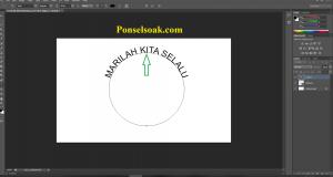 Membuat Tulisan Melingkar Dengan Bantuan Elips Tool 6