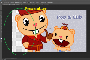 Mengganti Background Menjadi Transparan Di Photoshop 11
