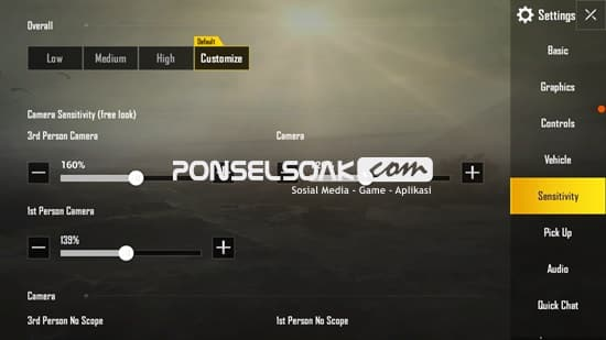 Cara Setting Sensitivitas PUBG Mobile 1