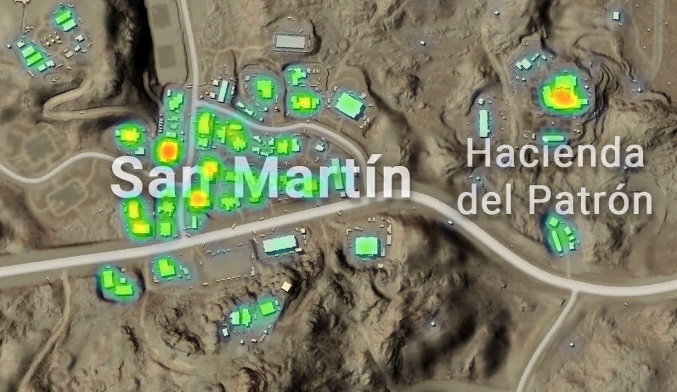 Peta San Martin di Miramar PUBG Mobile