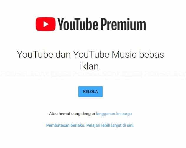 Cara Hapus YouTube premium