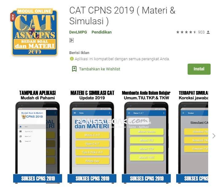 Cat CPNS 2019 Materi Simulasi Offline