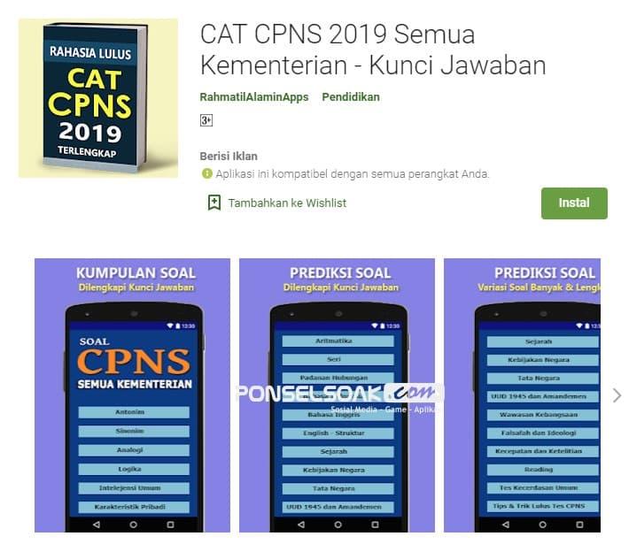 Cat CPNS 2019 Semua Kementerian Kunci Jawaban Offline