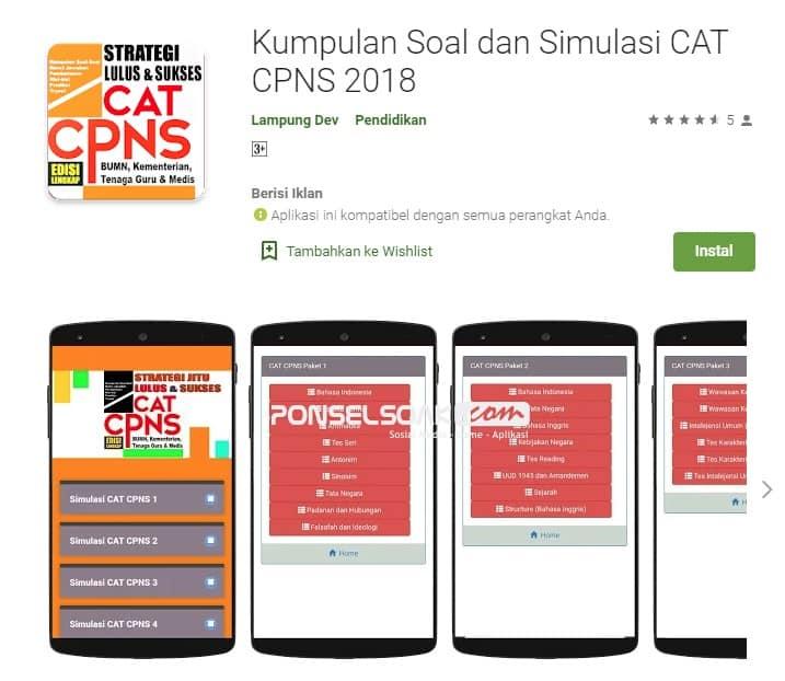 Kumpulan Soal dan Simulasi Cat CPNS 2018 Online
