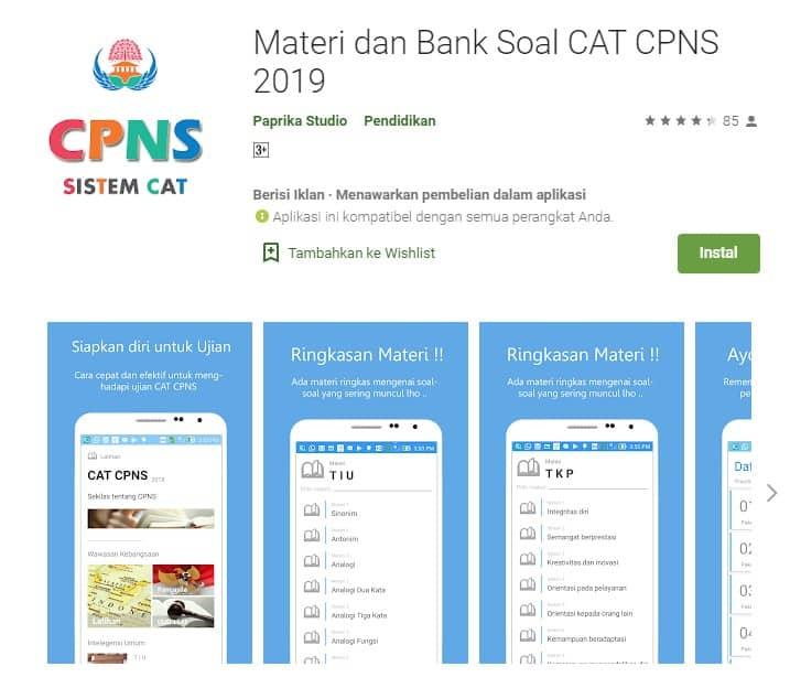 Materi dan Bank Soal Cat CPNS 2019 Online