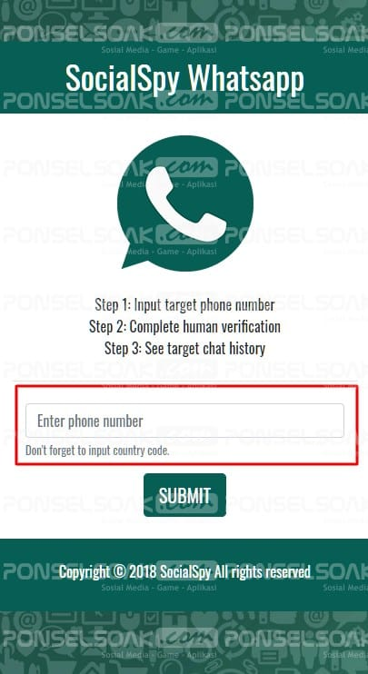 Sadap WA Menggunakan Social Spy Whatsapp