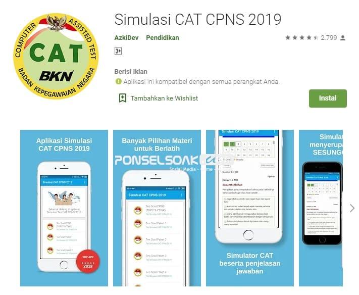 Simulasi Cat CPNS 2019 Offline