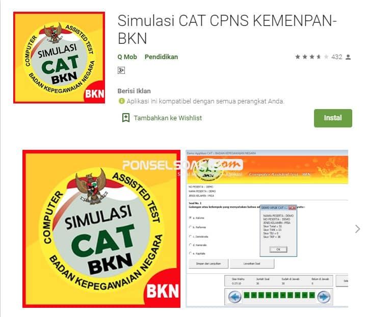 Simulasi Cat CPNS Kemenpan BKN