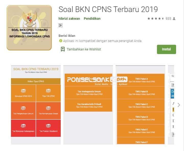 Soal BKN CPNS Terbaru 2019 Online