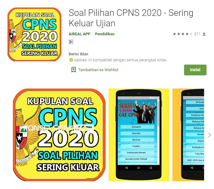 Soal Pilihan CPNS 2020 Sering Keluar Ujian Online