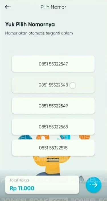 Cara Beli Kartu By.U Telkomsel Pilih Nomor