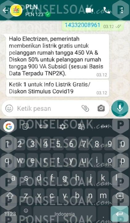 Token Listrik Gratis via WhatsApp WA 5